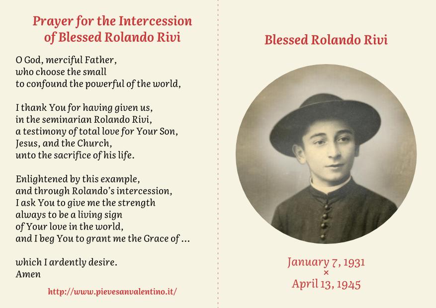 Image result for ROlando Rivi prayer